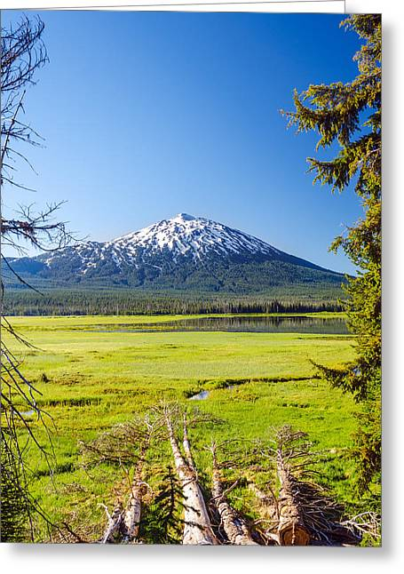 Mt Bachelor Greeting Cards - Vertical Mount Bachelor Greeting Card by Jess Kraft