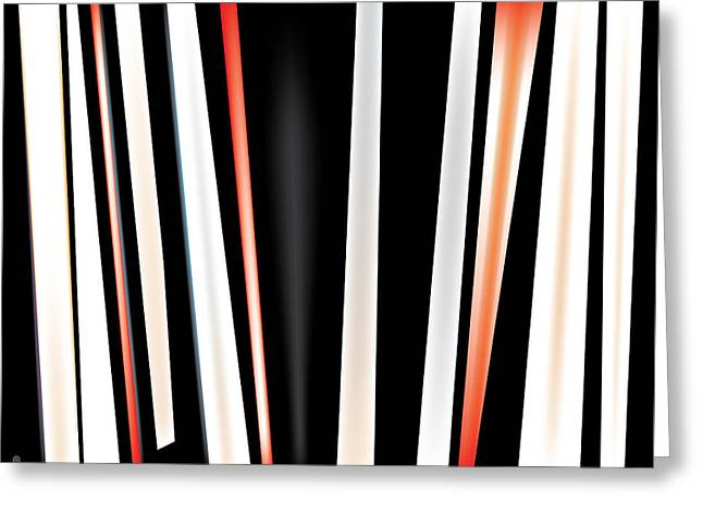 Abstract Shapes Greeting Cards - Vertical Stripes Greeting Card by Gary Grayson