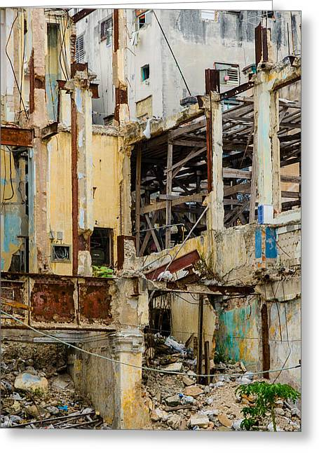 Havana Greeting Cards - Vertical Void Havana Cuba Greeting Card by Rob Huntley