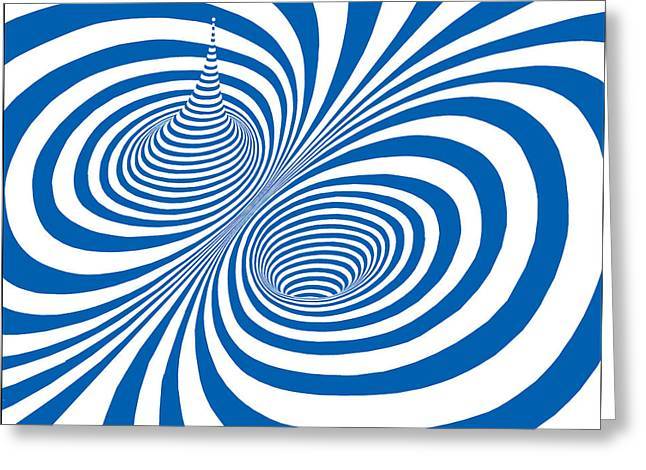 Vertigo Digital Art Greeting Cards - Vertigo Greeting Card by Bill Proctor
