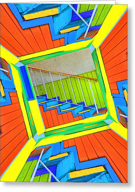 Vertigo Greeting Cards - Vertigo Staircase Greeting Card by Robert Jensen