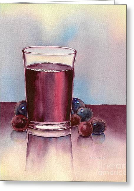 Very  Berry Greeting Card by Nan Wright