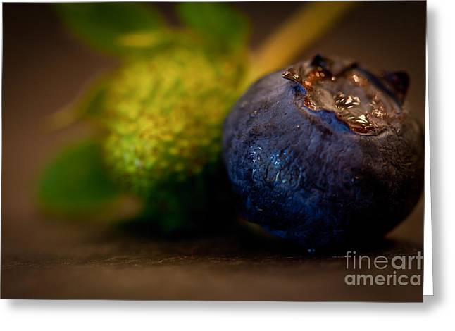 Fruit And Wine Greeting Cards - Very Blueberry Greeting Card by Patricia Bainter