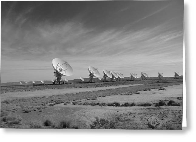 Light-years Greeting Cards - Very Large Array In Black And White Greeting Card by Dan Sproul