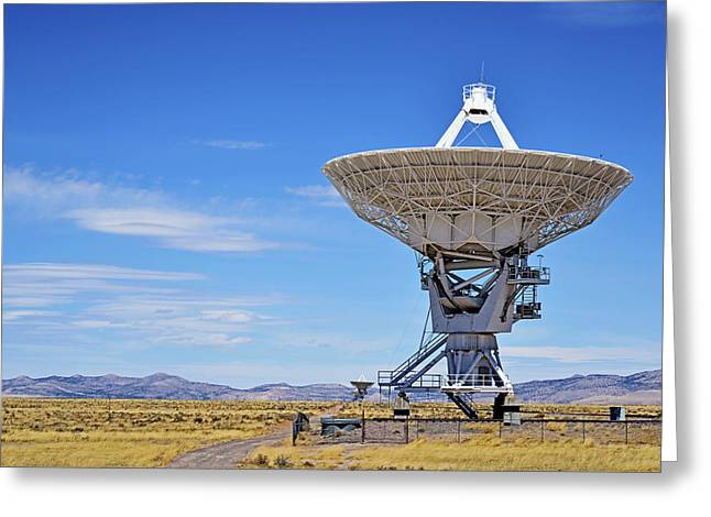 Observatory Greeting Cards - Very Large Array - VLA - Radio Telescopes Greeting Card by Christine Till