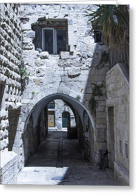 Entrance Door Greeting Cards - Very Old City Architecture No 1 Greeting Card by Ben and Raisa Gertsberg