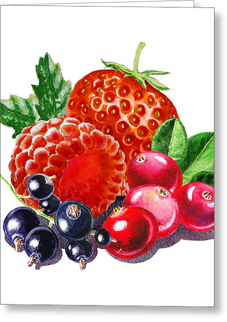 Purchase Greeting Cards - Very Very Berry Greeting Card by Irina Sztukowski