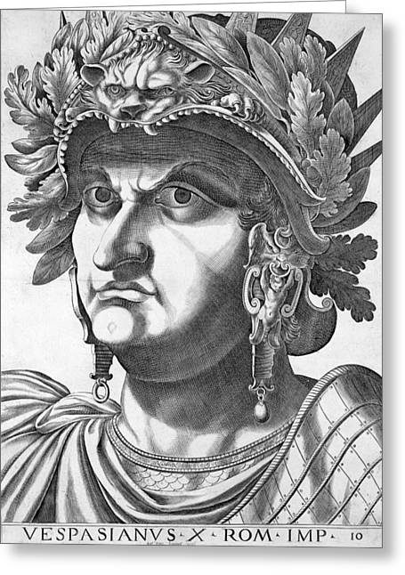 Frowning Greeting Cards - Vespasian , 1596 Greeting Card by Italian School