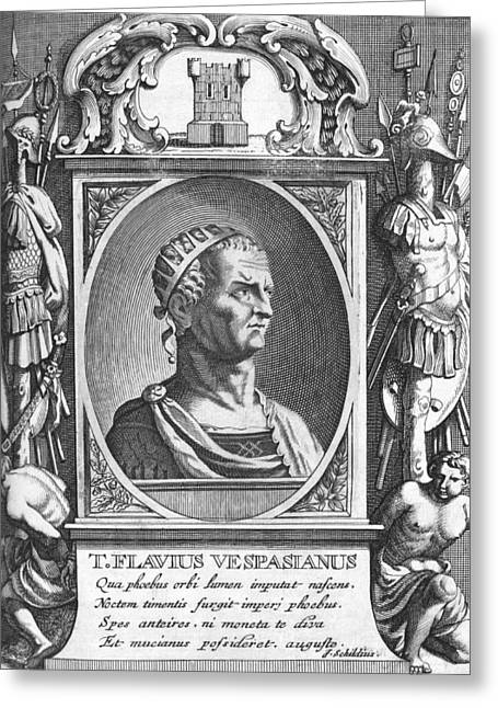 Pages Of Life Photographs Greeting Cards - Vespasian, Roman emperor Greeting Card by Science Photo Library