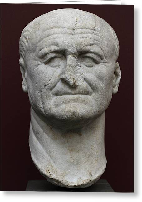 Dynasty Greeting Cards - Vespasian Titus Flavius Vespasianus 9-79. Roman Emperor 69-79. Founder Of The Flavian Dynasty Greeting Card by Bridgeman Images