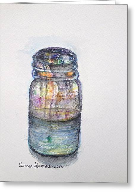 Water Vessels Drawings Greeting Cards - Vessel  Greeting Card by Donna Kerness