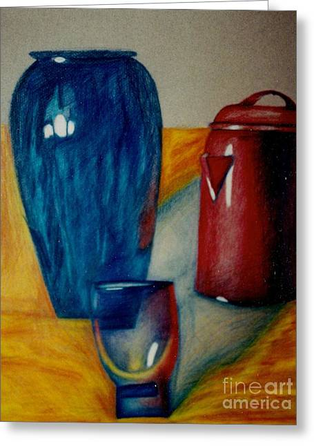Kitchen Pastels Greeting Cards - Vessels Greeting Card by Jon Kittleson