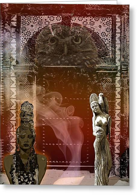 Vestal Greeting Cards - Vestals Greeting Card by Maria Jesus Hernandez