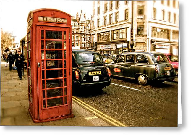Telephone Booth Greeting Cards - Vestigial Greeting Card by Madeline Ellis