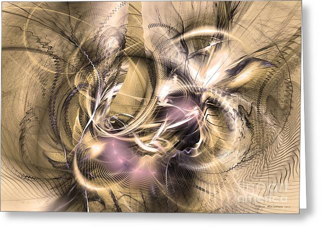 Algorithmic Abstract Greeting Cards - Vestigium aeternum - Abstract art  Greeting Card by Sipo Liimatainen