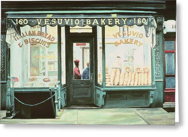 Vesuvio Bakery Greeting Card by Anthony Butera
