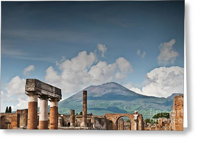 Naples Italy Greeting Cards - Vesuvius Greeting Card by Marion Galt