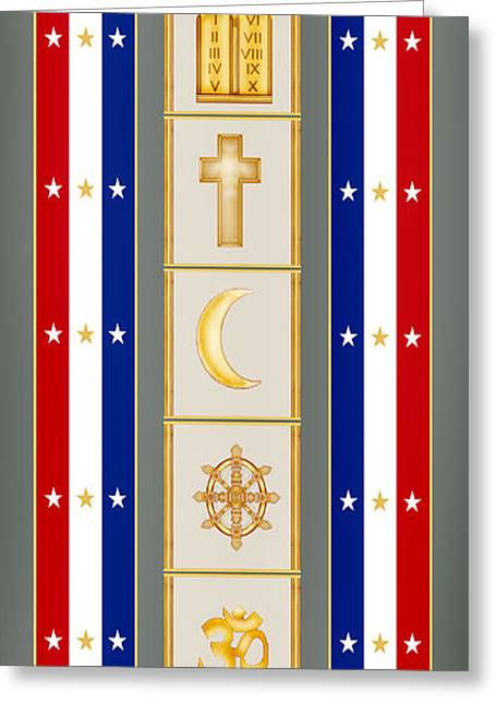 Chaplain Greeting Cards - Veterans Day 2012 Greeting Card by Anne Norskog