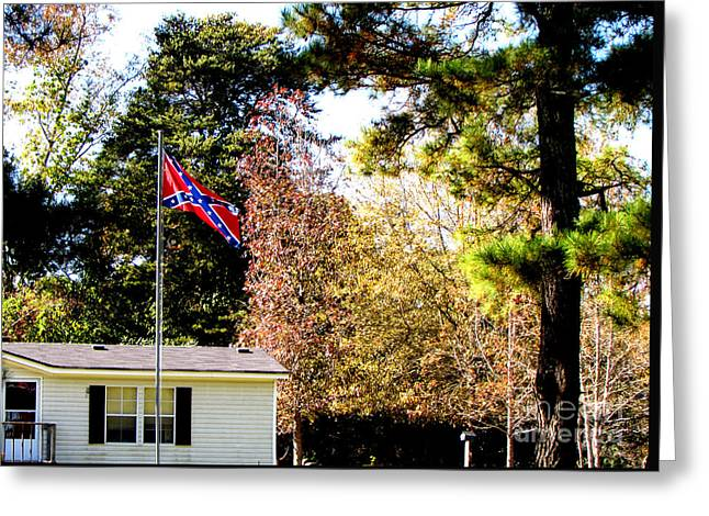 Confederate Flag Greeting Cards - Veterans Day Southern USA Greeting Card by Gardening Perfection