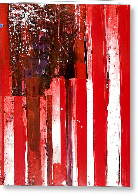 Independence Day Mixed Media Greeting Cards - Veterans Flag Greeting Card by Charles Jos Biviano