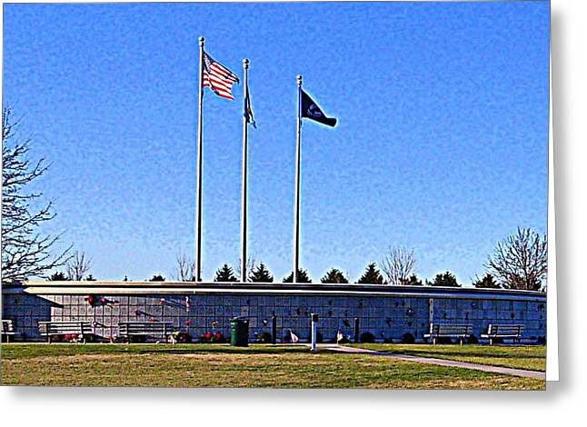 Servicewoman Greeting Cards - Veterans Memorial Cemetery Sussex County Delaware Greeting Card by Pamela Hyde Wilson