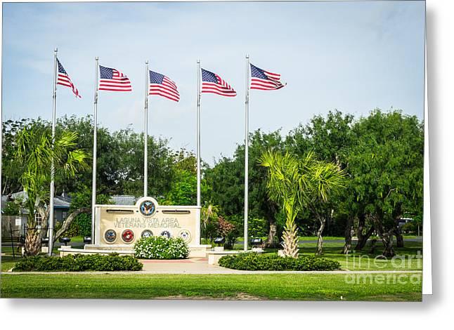 Servicewoman Greeting Cards - Veterans Memorial Laguna Vista Texas Greeting Card by IBC Stock Images
