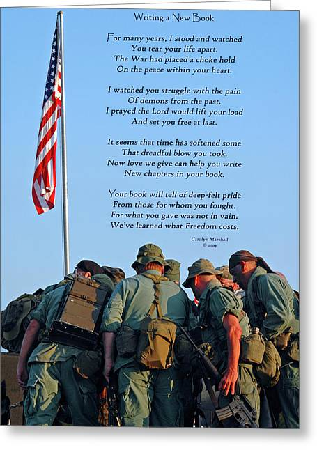 Prayer Service Greeting Cards - Veterans Remember Greeting Card by Carolyn Marshall