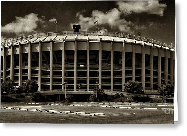 Veterans Stadium Greeting Cards - Veterans Stadium 1 Greeting Card by Jack Paolini