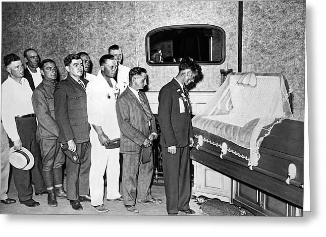 Veterans View Advocate's Body Greeting Card by Underwood Archives