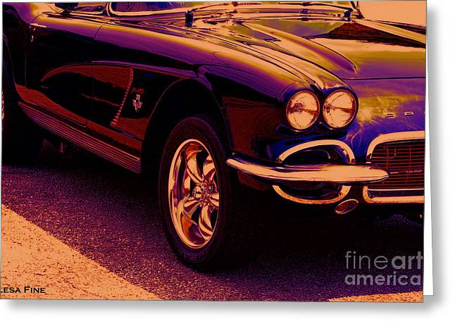 Chevy Greeting Cards - Chevrolet Corvette Vette Candy Greeting Card by Lesa Fine