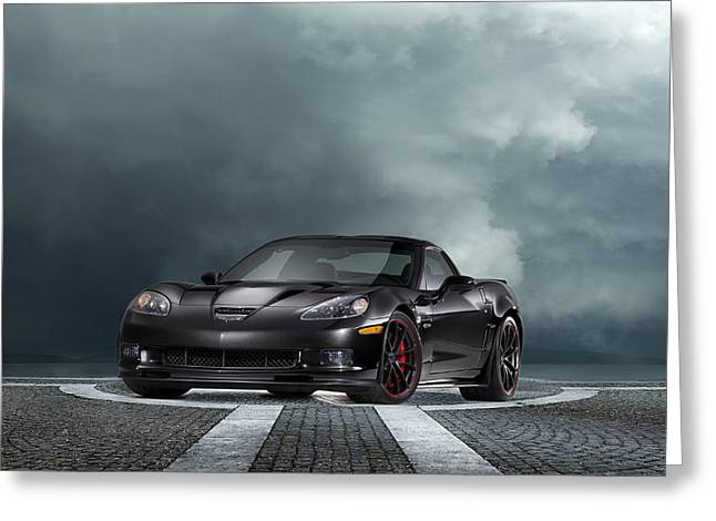 American Muscle Car Greeting Cards - Vette Dream Greeting Card by Peter Chilelli