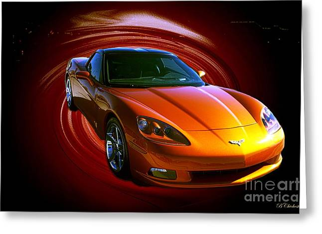 Naias Digital Art Greeting Cards - Vette Vortex Greeting Card by Barbara Chichester
