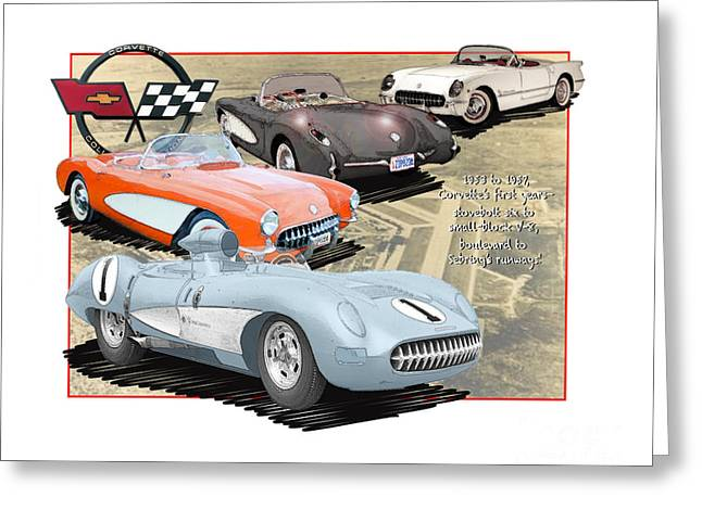 Vettes Grow To Sebring-size Greeting Card by Dan Knowler