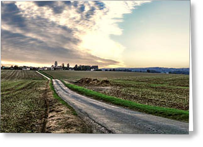 Vexin Landscape Greeting Card by Olivier Le Queinec