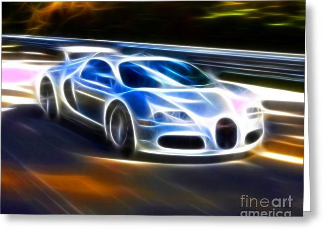 Bugatti Greeting Cards - Veyron - Bugatti Greeting Card by Pamela Johnson