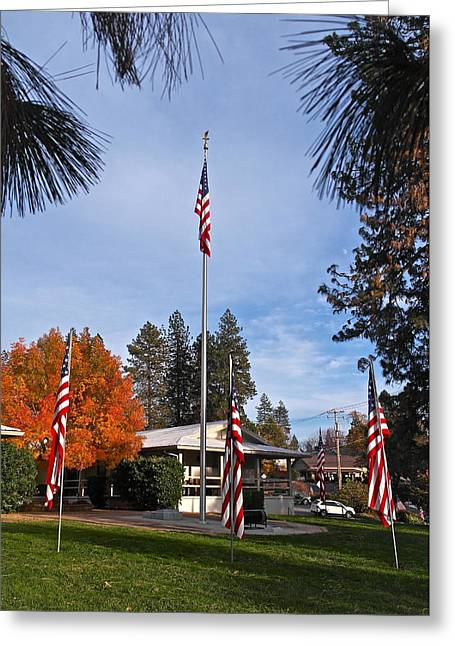 Vfw Greeting Cards - VFW Hall Veterans Day Greeting Card by Michele Myers