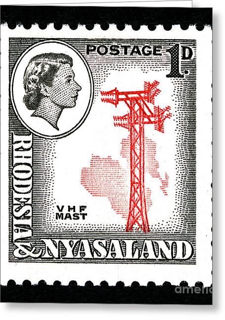 Zimbabwe Greeting Cards - VHF Mast - 1d Black Greeting Card by Outpost Imagery