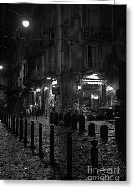 Naples Photographs Greeting Cards - Via dei Tribunali Greeting Card by Marion Galt