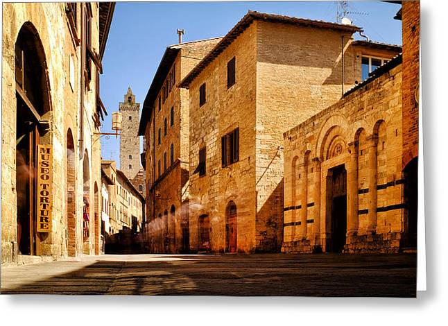 San Francesco Greeting Cards - Via San Giovanni Greeting Card by Fabrizio Troiani