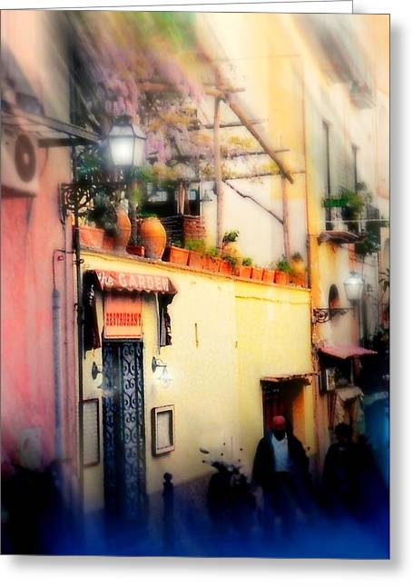 Southern Italy Greeting Cards - Via Tasso Sorrento Greeting Card by Diana Angstadt