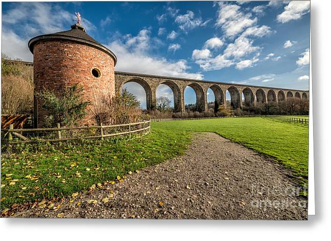 Brassey Greeting Cards - Viaduct Ty Mawr Park Greeting Card by Adrian Evans