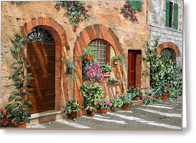 Trip Greeting Cards - Viaggio In Toscana Greeting Card by Guido Borelli