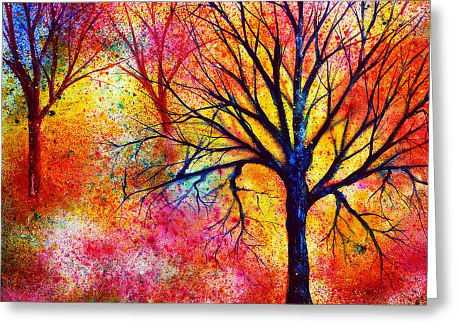 Kinkade Greeting Cards - Vibrant Greeting Card by Ann Marie Bone