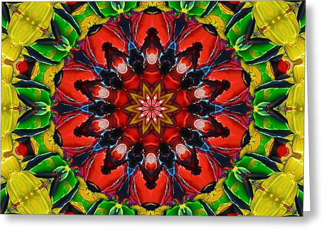 Recently Sold -  - Geometric Design Greeting Cards - Vibrant Autumn Mandala Greeting Card by Ana Maria Edulescu