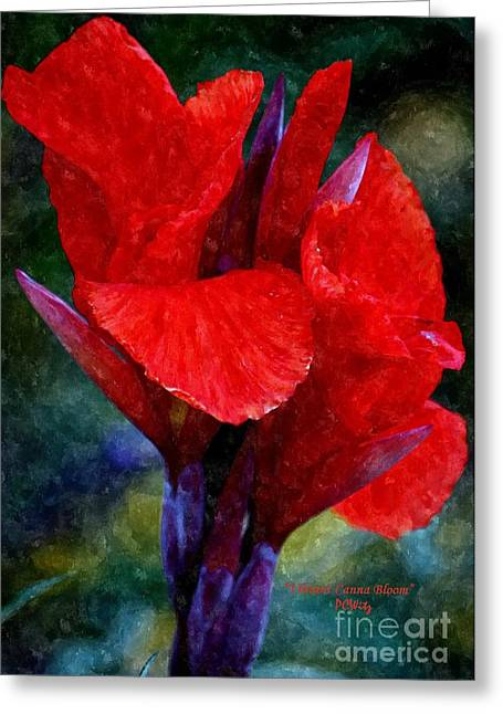 Vibrant Canna Bloom Greeting Card by Patrick Witz