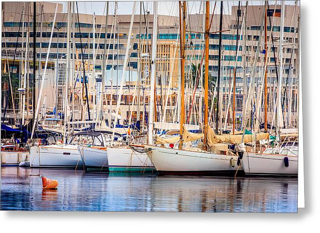 Barcelona Port Greeting Card by Pati Photography