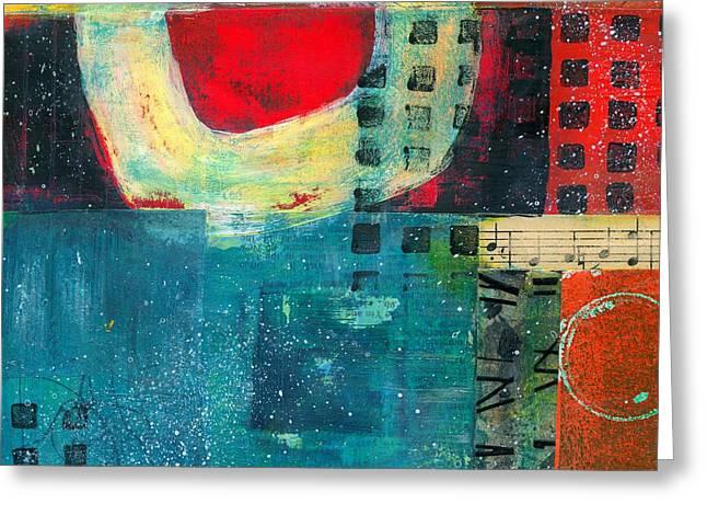 Yang Greeting Cards - Vibrant Greeting Card by Shuya Cheng