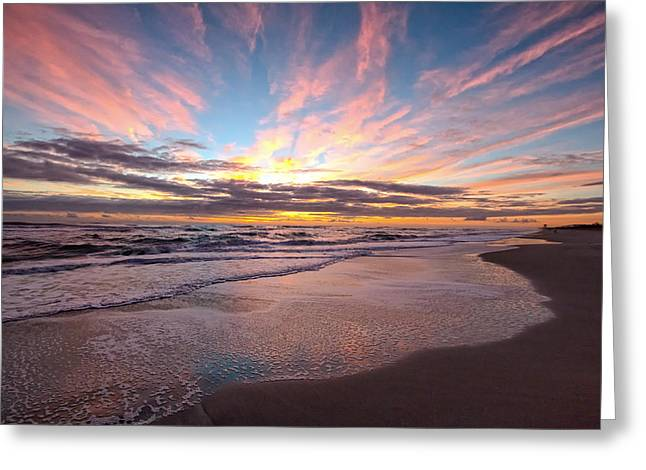 Famous Ocean Photographers Greeting Cards - Vibrant Sunrise  Greeting Card by Debi Buck