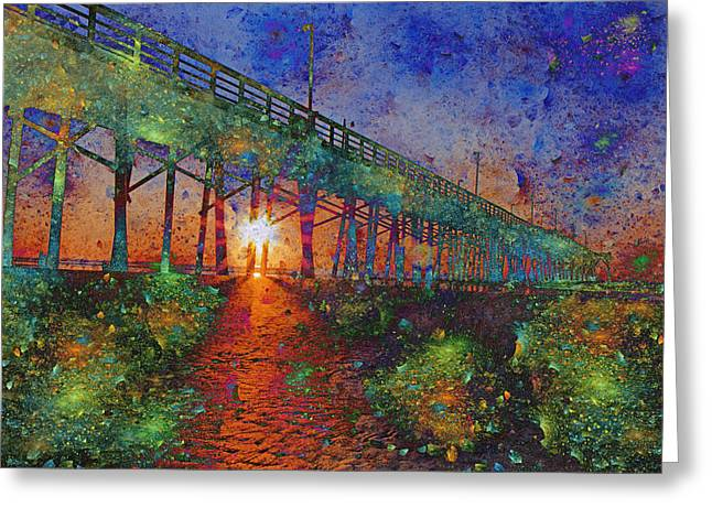 Spectrum Greeting Cards - Vibrant Sunrise Greeting Card by Betsy A  Cutler