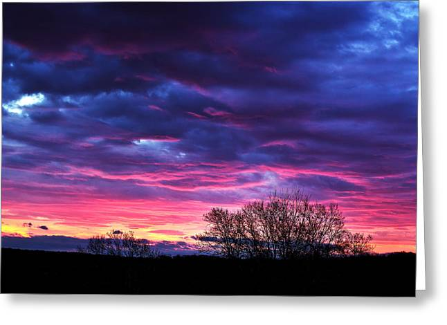 Rochester Skyline Greeting Cards - Vibrant Sunrise Greeting Card by Tim Buisman